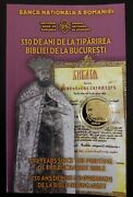 Romania-100 Lei 2018 Gold-330 Years Since The Printing Of The Bucharest Bible