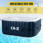 Inflatable Hot Tub Ideal For 4 Portable Jacuzzi For Patio Backyard More 5x5ft