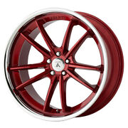 Asanti Abl-23 Delta 22x10.5 5x120 Offset 35 Candy Red With Chrome Lip Qty Of 4