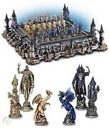 Franklin Mint Guardians Of The Fortress Chess Set Michael Whelan