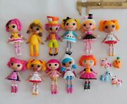 Assortment Of 11 Lalaloopsy Dolls And Accessories Hatter And More