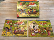 Vintage Ligre Puzzles 2 Complete 99 Piece And 35 Piece Germany Kids Set Of 2 Euc