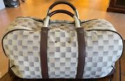 Louis Vuitton Damier Lune Canvas Sac Sport Duffle Bag Extremely Rare Collectible