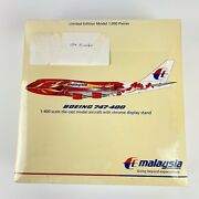Gemini Jets Ltd Ed 1000 Pieces Malaysia Airlines Boeing 747-400 Sealed Kit 1400