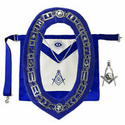 Masonic Blue Lodge Senior Deacon Apron And Jewel With Working Tools Collar Chain