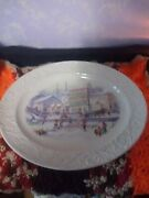 Christmas Scene Proctor And Gamble Soap Factory Platter