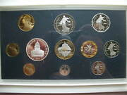 France 1999 Proof Set 11 Coins With 100 Francs Silver Coinmont St.michel Coin