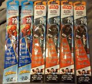 Lot Of 6, 20 Inch Poly Star Wars Kylo Ren Face/24 Spiderman Kite New In Package