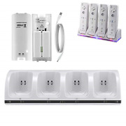 Yzgame Wii Charger Dock For Wii/wii U Remote Controller 4 Port Charger Station