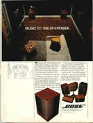 1983 Vintage Print Ad Bose 501 Direct Reflecting Speakers
