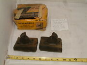 Nos Rear Motor Mounts 1 Pair Of 2 Mounts Oldsmobile 1936-1938, 6 And 8 Cyl.