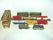 American Flyer Lot Of Prewar Tinplate O Gauge Freight Cars With Boxes