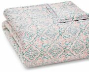 John Robshaw Patta 100 Cotton Southeastern Quilt - Twin - Coral / Turquoise