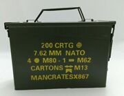 Military 30 Cal M19a1 Metal Ammo Can 7.62mm Metal Storage Box