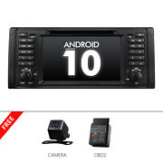 Obd2+cam+ Head Unit Android 10 2+32g 7 Car Stereo Gps Radio Dvd Usb For Bmw E39