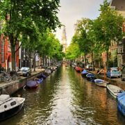 Amsterdam Canal 126 Piece Small Wooden Jigsaw Puzzle | Zen Puzzles