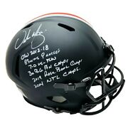 Urban Meyer Autographed Signed Black Matte Ohio State Riddell Authentic Full Siz