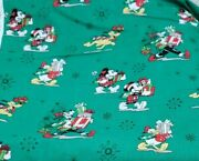 Disney Mickey Mouse And Friends Christmas Presents Cotton Fabric 8 Yds X 43 In