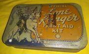 Vintage 1938 Lone Ranger Official First Aid Kit With Guide Book And Contents