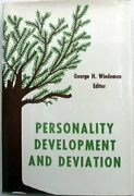 Personality Development And Deviation A Textbook For By George H. Wiedeman Vg