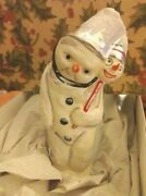 Debbee Thibault - Glass Holiday Ornament Mr. Frost Vintage Clip-on