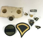 Vintage Lot Of Army Pins Patches Insignia Uniform Mil-j-0837 Can Opener