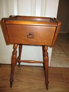 Antique Chair Side Table Solid Maple Wood End Accent Empire Furniture Corp