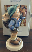 '87 Hummel Home From Market Boy And Pig In Basket 1 Master Painter Signed W/box