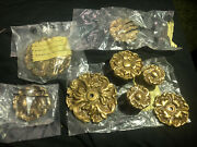 Lot Of 8 Stylecraft Solid Brass Antique Cabinet Handle Knobs Made In Mexico