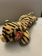 Ty Beanie Baby - Retired 1995 - Stripes The Tiger - Pvc, China