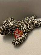 Ty Beanie Baby - Retired 1996 - Freckles The Spotted Leopard - Pvc, China