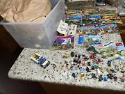 Lego Huge Lot 18 Lbs 42+ Mini Figures 11 Guides + More Some Partial Assembled