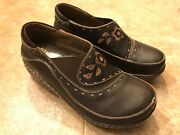 Spring Step Burbank Womenand039s Leather Brown Us 6.5/7 Eu 37 Clog Shoes