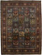 Vintage Masterpiece Floral 10x13and0395 Area Rug Wool Hand Knotted Oriental Carpet