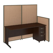 72w C-leg Desk With Panels And 3 Drawer Mobile Pedestal Bshppc022ht