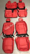 2020 2021 Jeep Gladiator Red Katzkin Leather Seat Covers - Overland And Sport