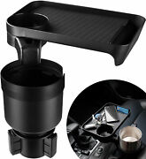 Car Cup Holder Expander With Food Desk Tray 3.4 3.7 Holder 9.8x6.3 Plate Usa