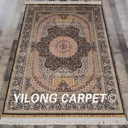 Yilong 4and039x6and039 Handknotted Silk Rug Home Decor Antistatic Oriental Carpet Qzt06a