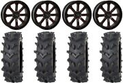 System 3 St-4 20 Wheels Red 35 Outback Maxand039d Tires Kawasaki Teryx Mule