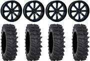 System 3 St-4 20 Wheels Blue 36 Xm310r Tires Can-am Defender