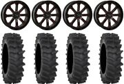System 3 St-4 20 Wheels Red 34 Xm310r Tires Rzr Turbo S/rs1
