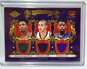 2009-10 Steph Curry Rookie Card Patch Swatch Panini Crown Royale Royalty 170/499