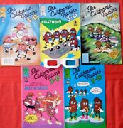 California Raisins In 3-d Complete Set 1-5 With Glasses Blackthorne Nice