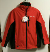 Hilti Men's Wind Stopper Softshell Work Jacket - 2xl - Red And Black - New
