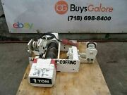 Coffing 1 Ton Electric Rope Hoist 20 Feet Lift 120 Volts Works Great