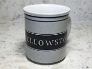 Hard To Find Yellowstone 10 Oz. Speckled Stoneware Mug With Bear