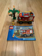 2012 Lego City Fire Truck 4208 Complete Wmanual And Minifigs