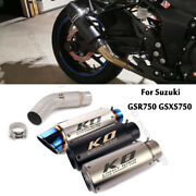 For Suzuki Gsr750 Gsx-s750 Motorcycle Exhaust System Link Pipe Muffler End Tips