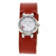 Louis Vuitton Tambour Lovely Rack Watches Q121j Stainless Steel/leather Ladies