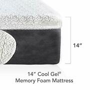 Classic Brands Cool Gel Memory Foam 14and039and039 Mattress 2 Bonus Pillows/bed-in-a-box
